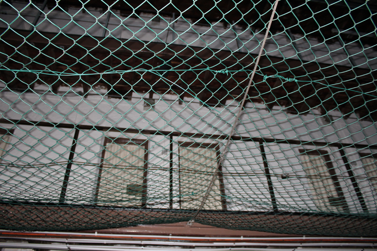 Netting prevented prisoners from killing themselves by jumping from the upper floors.